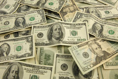 Vari soldi di carta americani Immagine Stock