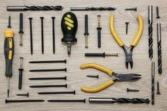 Vari strumenti della costruzione Immagine Stock