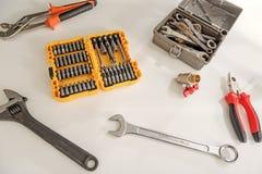 Vari strumenti per la fabbricazione del rinnovamento Fotografia Stock