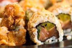 Vari sushi gentili del rotolo Immagine Stock