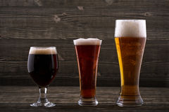 Vari tipi di birre Fotografia Stock Libera da Diritti