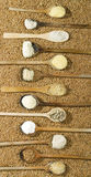 Vari tipi di farine Immagini Stock