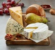Vari tipi di formaggi fotografie stock