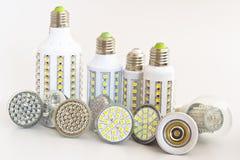 Vari tipi di lampadine Fotografia Stock Libera da Diritti