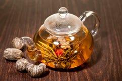 Vari tipi di tè di fioritura fatti a mano Immagini Stock Libere da Diritti