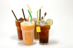Vari tipi di tè ghiacciati Fotografia Stock Libera da Diritti