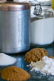 Vari tipi di zuccheri fotografie stock