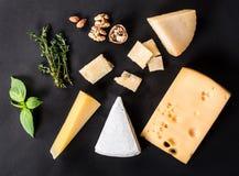 Vari tipi formaggio Fotografie Stock