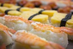 Vari tipi sushi Fotografia Stock Libera da Diritti