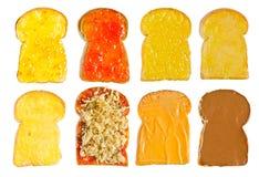 Vari tostano con varia guarnizione Fotografia Stock