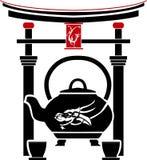 Variação chinesa do chá segundo ilustração royalty free