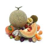 Variação 3d da mistura dos frutos ilustrada ilustração stock