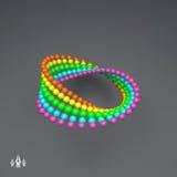 Variação da tira de Mobius Sinal da infinidade Ilusão ótica clássica Imagem de Stock Royalty Free