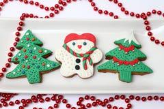 Variação de cookies do Natal Fotos de Stock Royalty Free