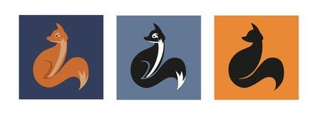 Variação do ícone do Fox Fotografia de Stock