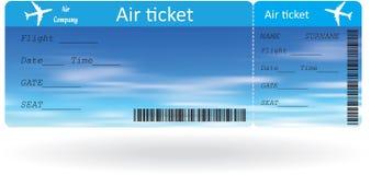 Variação do bilhete de ar Imagens de Stock Royalty Free