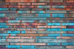 Variação 2 do cais de Auckland da parede da madeira compensada Foto de Stock Royalty Free