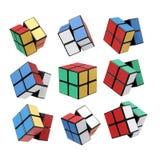 Variação do cubo de Rubik s imagem de stock royalty free