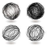 Variação do ninho do Scribble ilustração stock