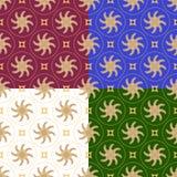 Variação do vetor do teste padrão letão étnico ilustração stock