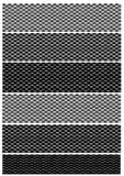Variações da fibra do carbono Imagem de Stock