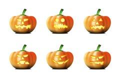 Variações de abóboras de Halloween Imagens de Stock