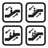Variações do ícone quatro da escada rolante Foto de Stock