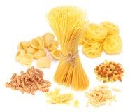 Variações do macarrão italiano Imagem de Stock
