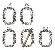 Variações do ` do ` O da letra, montadas das peças metálicas Fotografia de Stock Royalty Free
