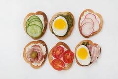 Variações do sanduíche Imagem de Stock Royalty Free
