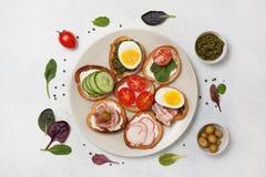 Variações do sanduíche Imagens de Stock Royalty Free