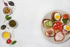 Variações do sanduíche Fotos de Stock Royalty Free