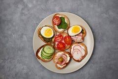 Variações do sanduíche Fotografia de Stock Royalty Free