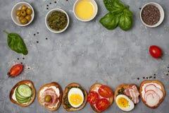 Variações do sanduíche Foto de Stock Royalty Free