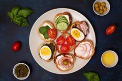 Variações do sanduíche Imagens de Stock