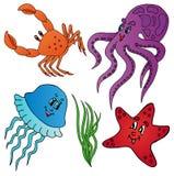 Varia accumulazione degli animali marini Royalty Illustrazione gratis