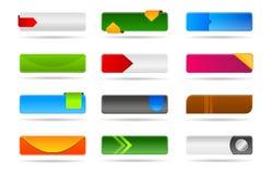Varia colección moderna del botón del Web ilustración del vector