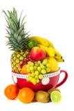 Varia fruta de la taza grande Imágenes de archivo libres de regalías