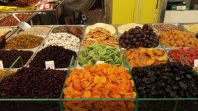 Varia frutta secca al mercato Fotografia Stock Libera da Diritti
