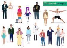 Varia illustrazione moderna di vettore della gente Immagini Stock