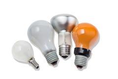 Varia lampada incandescente elettrica fotografia stock