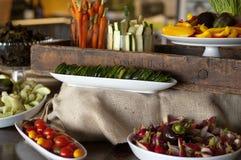 Varia presentazione di verdure organicamente sviluppata Fotografia Stock Libera da Diritti