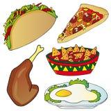 Varia raccolta degli alimenti a rapida preparazione Illustrazione Vettoriale
