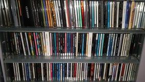 Varia raccolta del compact disc fotografie stock