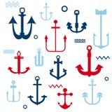 Varia raccolta dell'ancoraggio Fotografie Stock