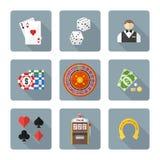 Varia raccolta di gioco delle icone colorata stile piano Fotografia Stock Libera da Diritti