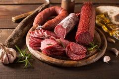Varia salsiccia Fotografie Stock
