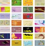 Varia tarjeta de visita Fotos de archivo