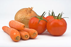 Varia verdura isolata immagine stock