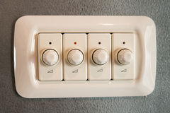 Variable light switch Royalty Free Stock Images